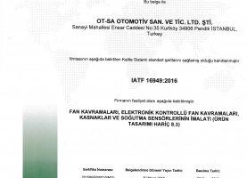 OTSA IATF 16949-2016 Belge TR