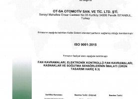 OTSA ISO 9001-2015 Belge TR